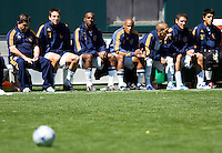 LA Galaxy bench. The LA Galaxy and DC United play to 2-2 draw at Home Depot Center stadium in Carson, California on Sunday March 22, 2009.