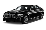 2020 BMW 7-Series M-Sport 4 Door Sedan Angular Front automotive stock photos of front three quarter view
