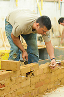Ex-Royal Marine retraining to work in construction.  Able Skills in Dartford, Kent, runs courses in construction industry skills like, bricklaying, carpentry and tiling.