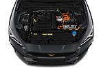 High angle engine detail of a 2021 Cupra Leon Break - 5 Door Wagon