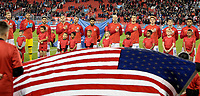TORONTO, ON - OCTOBER 15: USMNT starting eleven during a game between Canada and USMNT at BMO Field on October 15, 2019 in Toronto, Canada.