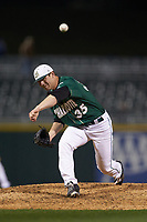 Charlotte 49ers relief pitcher Jacob Craver (35) delivers a pitch to the plate against the Georgia Bulldogs at BB&T Ballpark on March 8, 2016 in Charlotte, North Carolina. The 49ers defeated the Bulldogs 15-4. (Brian Westerholt/Four Seam Images)