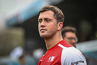 Dan Osborne during the Celebrity football match in aid of the charity's 'Keep Moving Forward' programme which benefits people with mental health issues put together by Wycombe Wanderers Sports & Education Trust and Sellebrity Soccer Football Match at Adams Park, High Wycombe, England on 7 April 2019. Photo by David Horn.