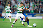 St Johnstone v Celtic.....12.04.11.Shaun Maloney and Cleveland Taylor.Picture by Graeme Hart..Copyright Perthshire Picture Agency.Tel: 01738 623350  Mobile: 07990 594431