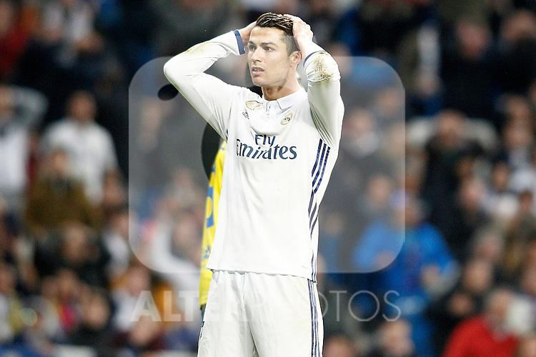 Real Madrid's Cristiano Ronaldo during La Liga match. March 1,2017. (ALTERPHOTOS/Acero)