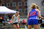 FRANKFURT AM MAIN, GERMANY - April 14: Inga Hupka #8 of Germany during the Deutschland Lacrosse International Tournament match between Germany vs Great Britain during the on April 14, 2013 in Frankfurt am Main, Germany. Great Britain won, 10-9. (Photo by Dirk Markgraf)