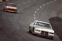 HAMPTON, GA - NOV 3:  Lake Speed, #75 Pontiac, leads Neil Bonnett, #12 Chevrolet, through a turn during the Atlanta Journal 500 NASCAR Winston Cup race at Atlanta Motor Speedway, November 3, 1985. (Photo by Brian Cleary/www.bcpix.com)