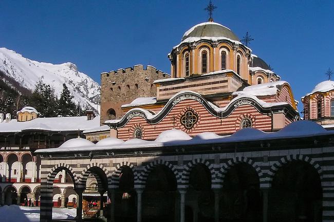 Rila Monastery in Winter