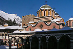 Rila Monastery in Winter