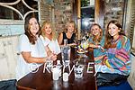 Enjoying the evening in Benners on Thursday, l to r: Sarah Black, Catherine O'Sullivan, Margo Black, Caroline Daly and Aisling Ní Súilleabháin from Ardfert.