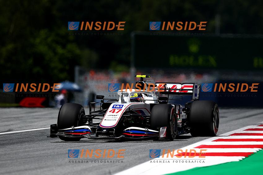 #47 Mick Schumacher, Haas F1 Team. Formula 1 World championship 2021, Styrian GP 2021, 26 June 2021<br /> Photo Federico Basile / Insidefoto