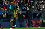 Atletico de Madrid's coach Diego Pablo Simeone  during UEFA Champions League match, round of 16 first leg between Atletico de  Madrid and Liverpool FC at Wanda Metropolitano Stadium in Madrid, Spain. February Tuesday 18, 2020.(ALTERPHOTOS/Manu R.B.)