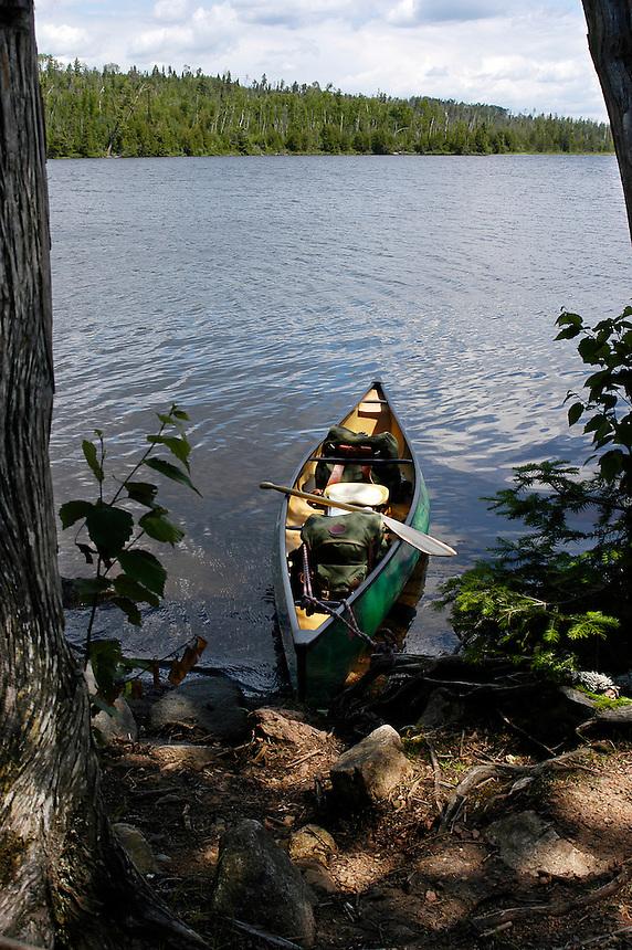 Solo canoe trip to Kelso Lake Boundary Waters Canoe Area wilderness, Minnesota.