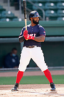 Shortstop Danny Santana (6) of the Greenville Drive during a game against the Bowling Green Hot Rods on Thursday, May 6, 2021, at Fluor Field at the West End in Greenville, South Carolina. (Tom Priddy/Four Seam Images)