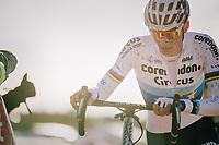 European Champion Mathieu van der Poel (NED/Corendon-Circus) leading the race from start to finish<br /> <br /> Superprestige Ruddervoorde 2018 (BEL)