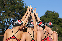 3 October 2005: The team during synchronized swimming picture day at the Avery Aquatic Center in Stanford, CA.