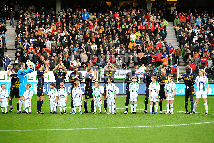 fc groningen - roda jc eredivisie seizoen 2007-2008 03-02-2008 line up.fotograaf Jan Kanning *** Local Caption ***