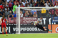 Carson, CA - Thursday August 03, 2017: Alyssa Naeher during a 2017 Tournament of Nations match between the women's national teams of the United States (USA) and Japan (JPN) at the StubHub Center.