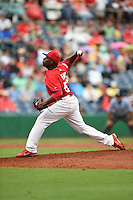 Philadelphia Phillies pitcher Hector Neris (50) during a Spring Training game against the New York Yankees on March 27, 2015 at Bright House Field in Clearwater, Florida.  New York defeated Philadelphia 10-0.  (Mike Janes/Four Seam Images)