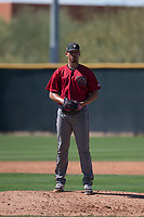 Arizona Diamondbacks relief pitcher Jhoan Duran (36) prepares to deliver a pitch during a Spring Training game against Meiji University at Salt River Fields at Talking Stick on March 12, 2018 in Scottsdale, Arizona. (Zachary Lucy/Four Seam Images)