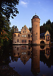 Europe, DEU, Germany, Bavaria, Spessart, Mespelbrunn, Moated castle, Mespelbrunn Castle....[ For each utilisation of my images my General Terms and Conditions are mandatory. Usage only against use message and proof. Download of my General Terms and Conditions under http://www.image-box.com or ask for sending. A clearance before usage is necessary...Material is subject to royalties. Each utilisation of my images is subject to a fee in accordance to the present valid MFM-List...Contact | archive@image-box.com | www.image-box.com ]