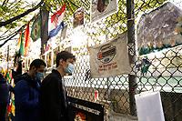 30th October 2020, Imola, Italy; FIA Formula 1 Grand Prix Emilia Romagna, inspection day;  Tributes to Ayrton Senna