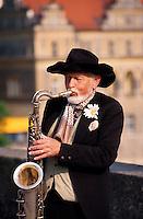 Musiker auf der Karlsbruecke (Karlov Most), Prag, Tschechien, Unesco-Weltkulturerbe