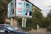 Wahlkampagne von Sooronbay Jeenbekow.<br />Am Sonntag, 15.10.2017, wird in Kirgistan ein neuer Präsident gewählt. Der sozialdemokratische Kandidat Sooronbay Jeenbekow wird vom jetzigen Präsidenten unterstützt, während der Unternehmer Omurbek Babanow seine Wahlkampagne mit eigenen Mitteln finanziert.
