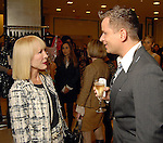 Diane Lokey Fard and Jeff Shell at the Recipe for Success Tea & Temptations fashion show at Saks Fifth Avenue Thursday Nov. 19,2009. (Dave Rossman/For the Chronicle)