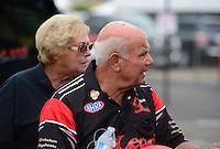 Nov. 8, 2012; Pomona, CA, USA: NHRA funny car driver Gary Densham during qualifying for the Auto Club Finals at at Auto Club Raceway at Pomona. Mandatory Credit: Mark J. Rebilas-