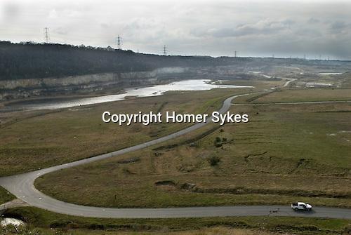 Ebbsfleet Valley Kent, the quarry site of the proposed new Garden City. Springhead Park comprising of Oak Neighbourhood Beech Neighbourhood  Ash Neighbourhood and the Maple  Neighbourhood.