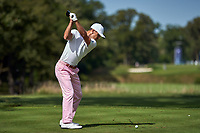 OLYMPIA FIELDS, IL - AUGUST 29: Billy Horschel of the United States plays the ball at the 14th tee during the third round of the BMW Championship at Olympia Fields Country Club (North)
