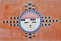 Mosaic  design on bench in Tubac. Arizona