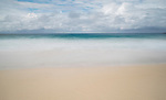 Misty water at Zenith Beach, Shoal Bay, Port Stephens, NSW, Australia