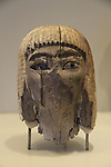 Israel, Jerusalem, head of a woman from Ekron, 13th-12th century BC, at the Israel Museum