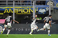 Gonzalo Higuain of Juventus celebrates after scoring the winning goal of 1-2 for his side <br /> Milano 6-10-2019 Stadio Giuseppe Meazza <br /> Football Serie A 2019/2020 <br /> FC Internazionale - Juventus FC <br /> Photo Andrea Staccioli / Insidefoto