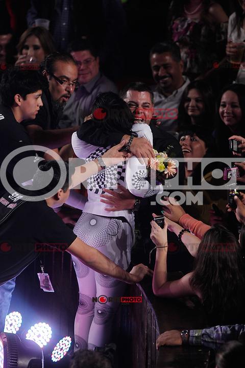 1 Dic 2012. Hermosillo Son.<br /> La reina del rock Alejandra Guzman durante su concierto en el Palenque de Hermosillo.<br /> (Luis Gutierrrez/NortePhoto)