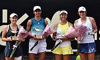 BOGOTÁ-COLOMBIA, 13-04-2019: Astra Sharma (AUS), Zoe Hives (AUS), Hayly Carter (USA) y Ena Shibahara (USA), durante partido por la final de dobles del Claro Colsanitas WTA, que se realiza en el Carmel Club en la ciudad de Bogotá. / Astra Sharma (AUS), Zoe Hives (AUS), Hayly Carter (USA) and Ena Shibahara (USA), during the match for the doubles final of Claro Colsanitas WTA, which takes place at Carmel Club in Bogota city. / Photo: VizzorImage / Luis Ramírez / Staff.