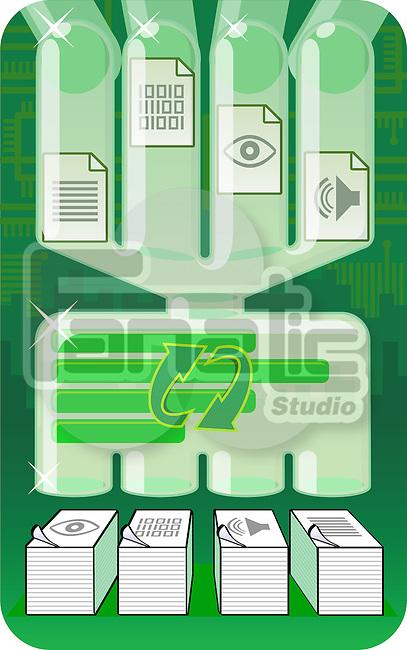 Illustrative representation showing file processing system