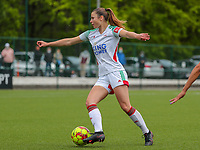 Auke Swevers (4) of OHL in action during a female soccer game between Oud Heverlee Leuven and AA Gent Ladies on the 9 th matchday of play off 1 in the 2020 - 2021 season of Belgian Womens Super League , saturday 22 nd of May 2021  in Heverlee , Belgium . PHOTO SPORTPIX.BE   SPP   SEVIL OKTEM