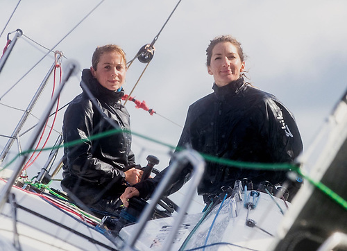 Cat Hunt and Pam Lee on the Figaro 3 Iarracht Maigeanta. Their record-making, record-breaking circuit of Ireland in mid-October was a tonic for the sailing community.