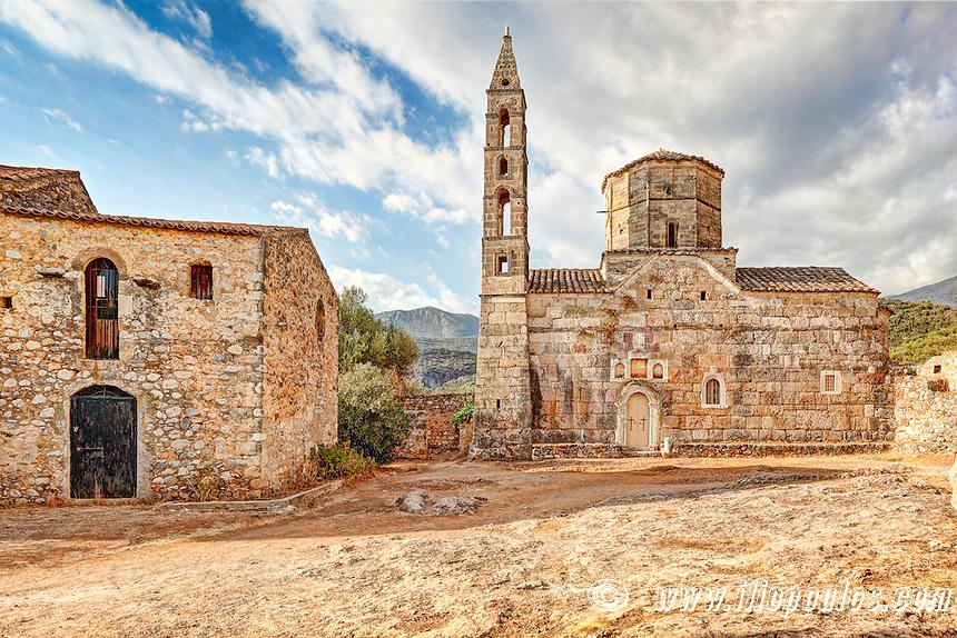 Saint Spyridonas in the old town of Kardamyli in Mani, Greece