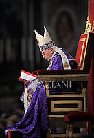 Pope Benedict XVI leads the Vesper prayer with members of Rome's universities  at St Peter's basilica at The Vatican.on December 1, 2012
