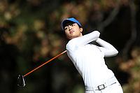CHAPEL HILL, NC - OCTOBER 11: Jaravee Boonchant of Duke University tees off at UNC Finley Golf Course on October 11, 2019 in Chapel Hill, North Carolina.