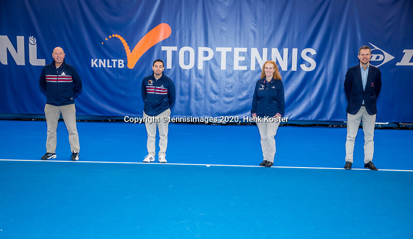 Amstelveen, Netherlands, 20  December, 2020, National Tennis Center, NTC, NK Indoor, National  Indoor Tennis Championships, Final womans single  :  Umpires (NED) <br /> Photo: Henk Koster/tennisimages.com