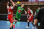 19Juri Knorr beim Spiel in der Handball Bundesliga, TSV GWD Minden - HSG Nordhorn-Lingen.<br /> <br /> Foto © PIX-Sportfotos *** Foto ist honorarpflichtig! *** Auf Anfrage in hoeherer Qualitaet/Aufloesung. Belegexemplar erbeten. Veroeffentlichung ausschliesslich fuer journalistisch-publizistische Zwecke. For editorial use only.