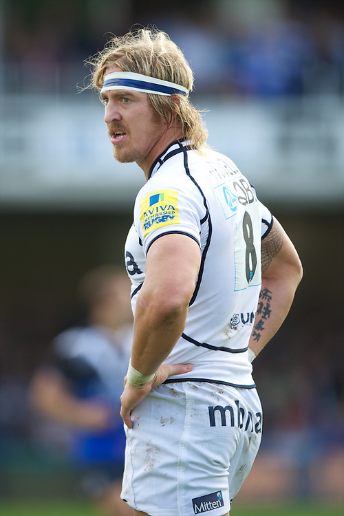 Andy Powell of Sale Sharks during the Aviva Premiership match between Bath Rugby and Sale Sharks at the Recreation Ground on Saturday 29th September 2012 (Photo by Rob Munro)