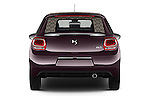 Straight rear view of 2016 Ds DS-3 Sport-Chic 2 Door Convertible Rear View  stock images