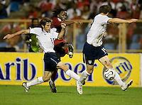 Frankie Hejduk defends, 2010 FIFA World Cup qualifying, U.S. Men vs. Trinidad & Tobago.Hasely Crawford Stadium.Port of Spain, Trinidad.October 14, 2008.Trinidad and Tobago 2, USA 1
