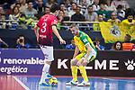 Jaen P. Interior Mauricio Guterres and Rios R. Zaragoza Anas El Ayyane during Semi-Finals Futsal Spanish Cup 2018 at Wizink Center in Madrid , Spain. March 17, 2018. (ALTERPHOTOS/Borja B.Hojas)